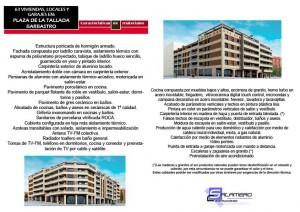 Memoria calidades vivienda 3 dormitorios en Plaza Tallada de Barbastro